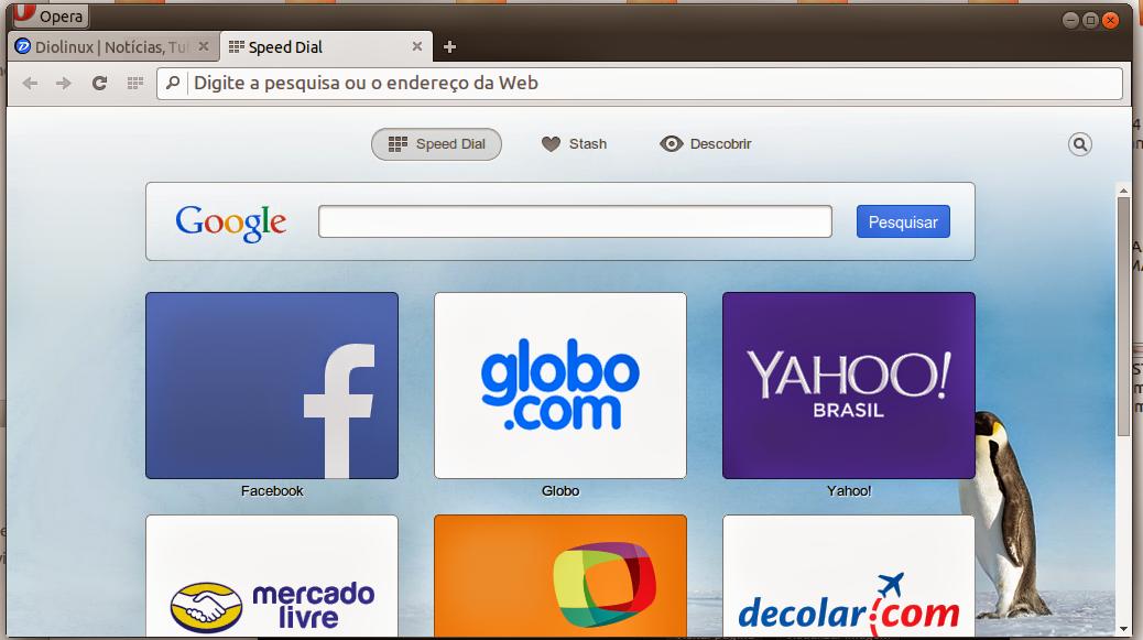 Nova versão do Opera para Linux