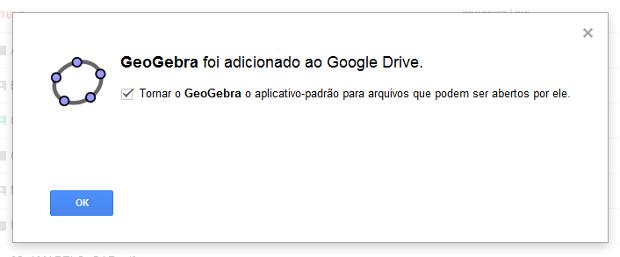 GeoGebra 4 para Google Chrome - Adicionado ao Google Drive