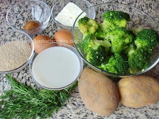 Budinca de broccoli cu cartofi ingrediente reteta