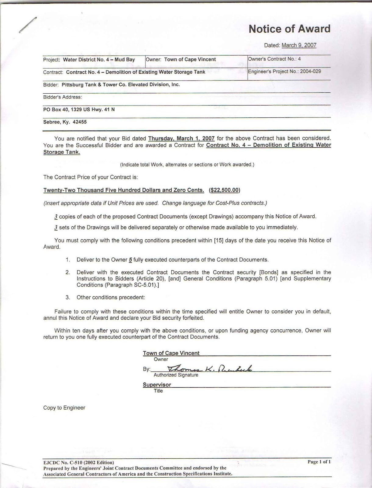 Landscaping Contract Examples
