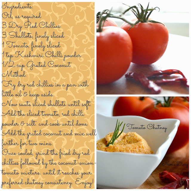 Tomato Chutney {Recipe card}