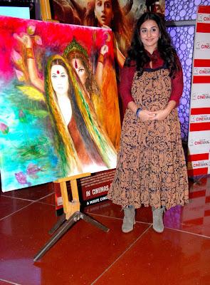 vidya balan at kahaani painting launch glamour  images