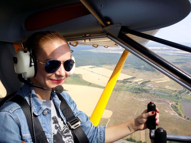 полет на самолете под Киевом