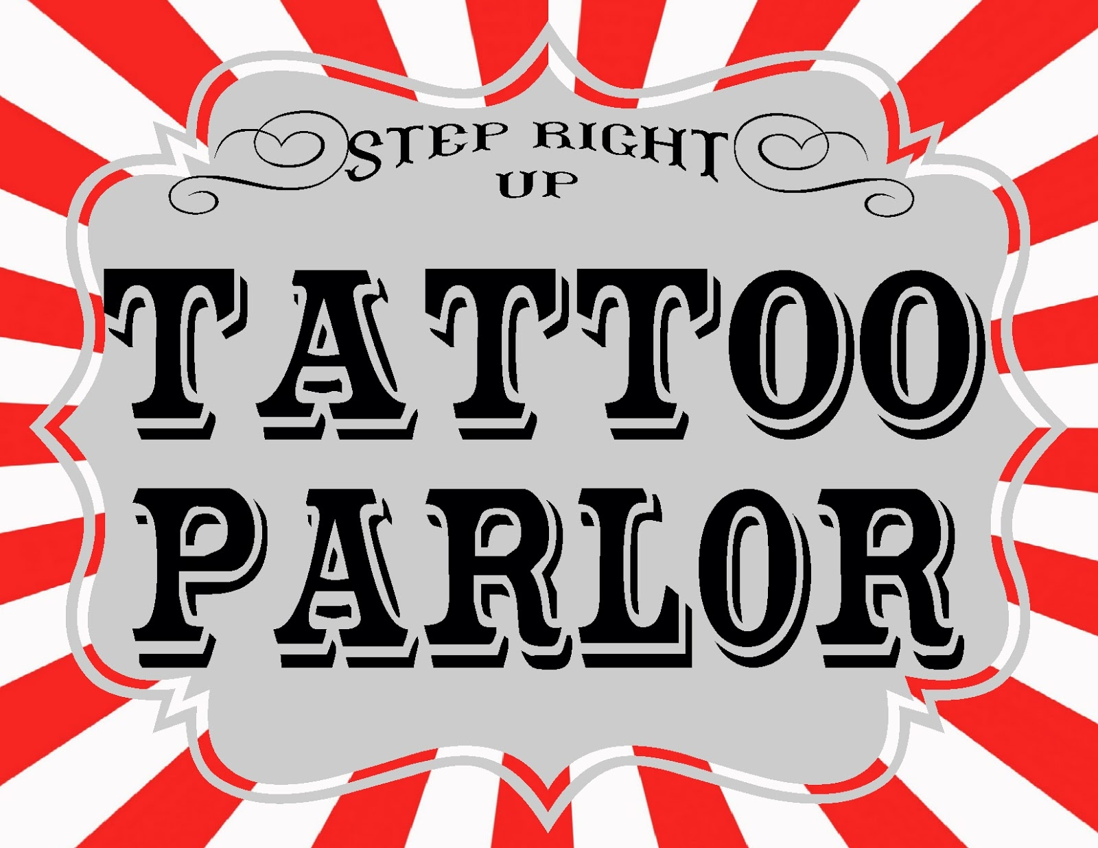 Carnival printables revisited the red balloon for Tattoo shop games