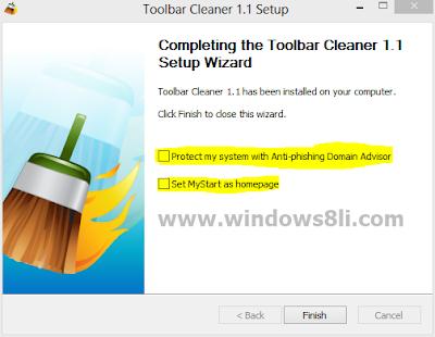 Toolbar Cleaner Araç çubuğu kaldırma