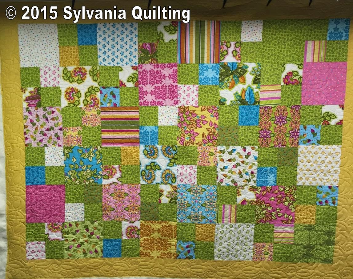 Sylvania quilting leaves in my living room for Living room quilt