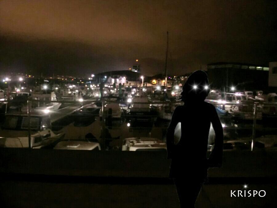 luces en el puerto de hondarribia