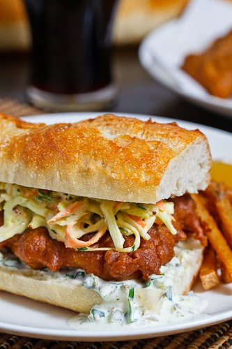 Crispy Beer Battered Fish Sandwich on Closet Cooking