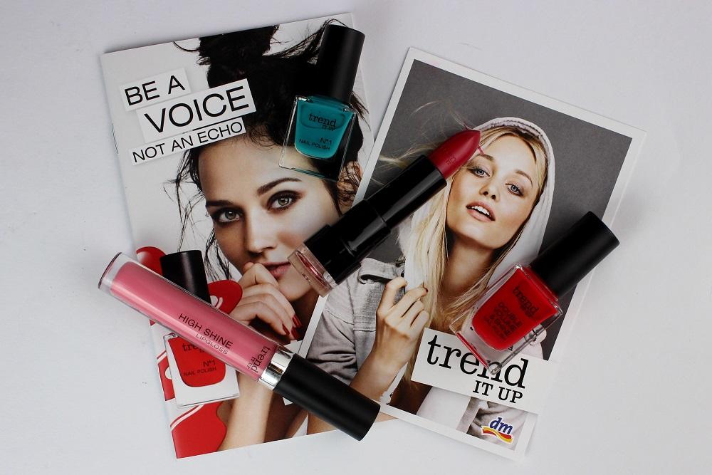 beauty, cosmetics, dm drogeriemarkt, dm trend it up, drogerie, eigenmarke, günstige kosmetik, kosmetik, lipgloss, matter lippenstift, nagellack, neues sortiment, review, swatches, trend it up