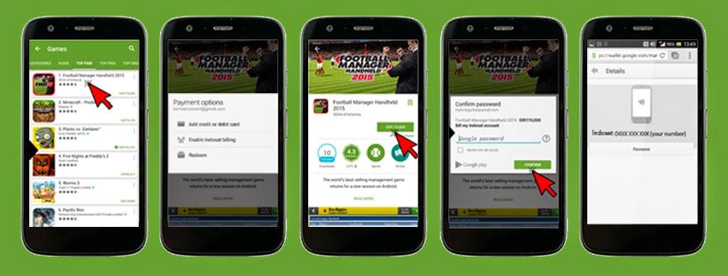 Wow ! Sekarang bisa beli Aplikasi di Play Store pake Pulsa