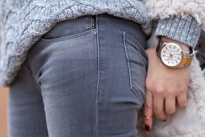 Marcelle style skinny jeans by Meltin' Pot and Watch style U0075g2 GUESS Watches