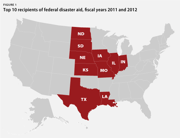 States of Denial: States with the Most Federal Disaster Aid Sent Climate-Science Deniers to Congress (Credit: www.americanprogress.org) Click to enlarge.