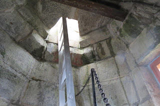 Ladder into the light tower