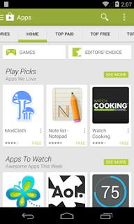 Google Play Store - Screenshot