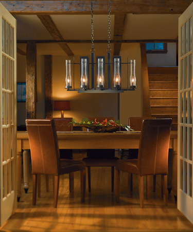 Bring Continuity To Your Dining Room Use A Linear Fixture Over Long Rectangular Table Or Round Drum Shade Circular Compliment