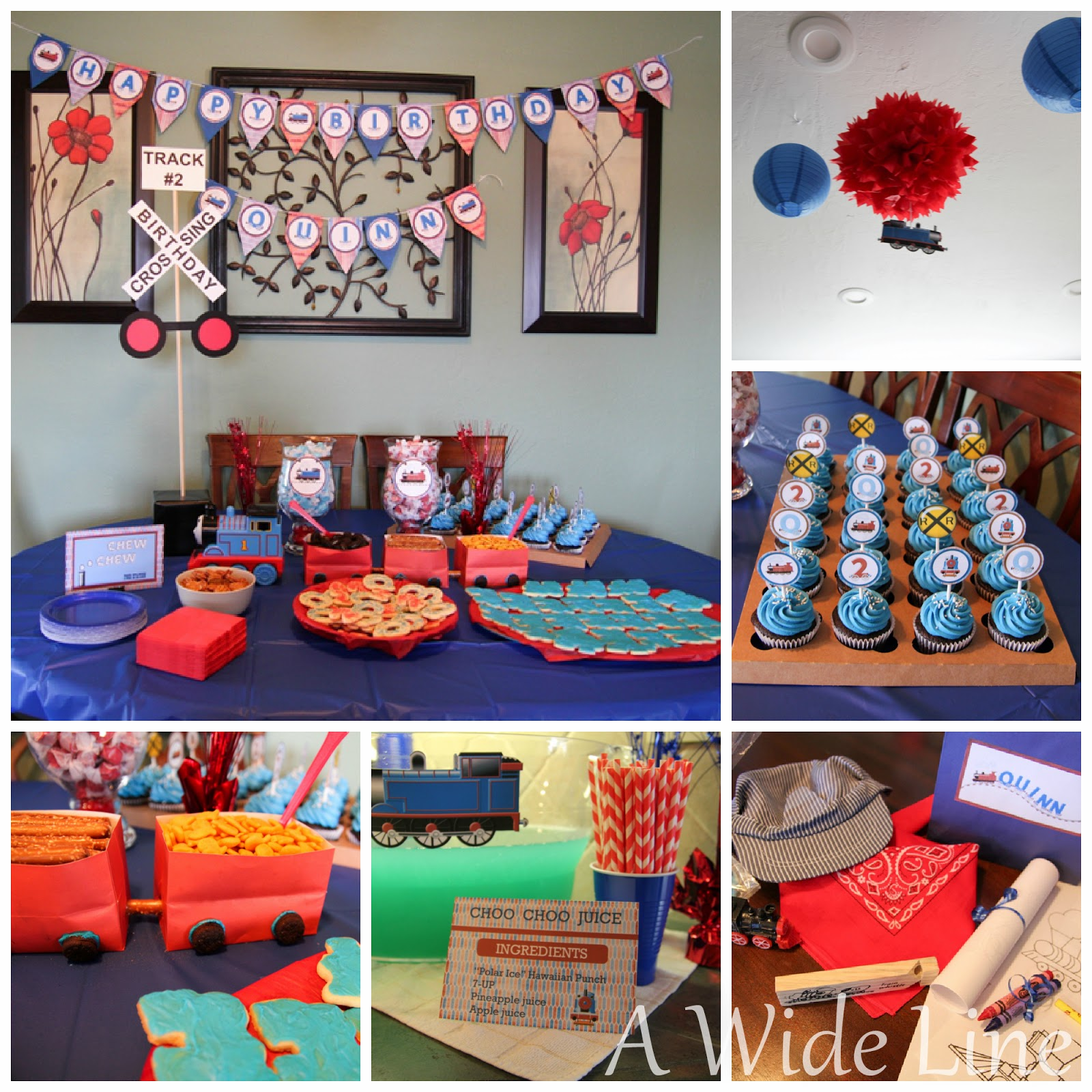 DIY Train Themed Birthday Party