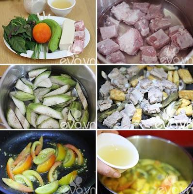 Cách làm món sườn nấu chuối đậu cực ngon 1