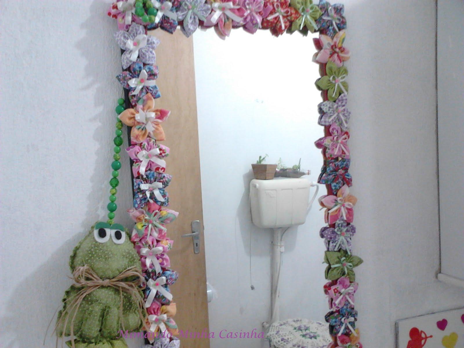 pra vcs a moldura de fuxico que fiz pro meu espelho do banheiro #71363B 1600 1200