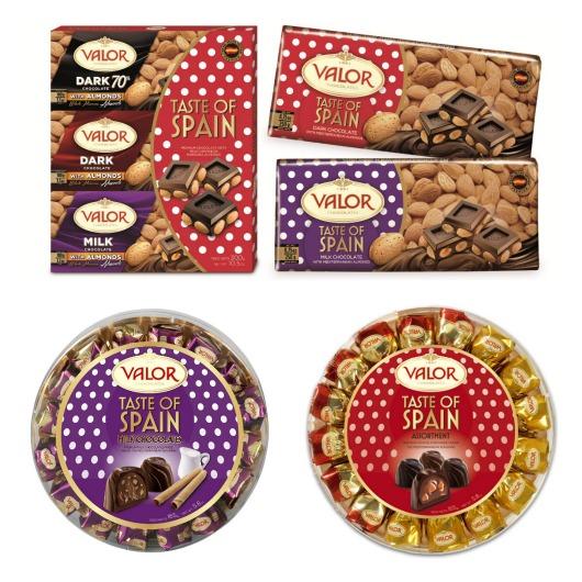 http://www.valor.es/amigosdelchocolate/taste-of-spain-la-gama-mas-viajera-de-chocolates-valor/