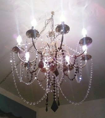 Chandelier Renovation Chandelier Redo Crystal Bling Shore Side - Used chandelier crystals