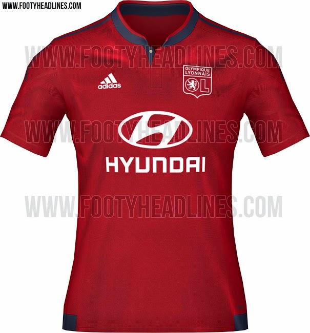 gambar bocoran jersey olympique lyonaise away terbaru musim depan 2015/2016 kualitas grade ori made in thailand