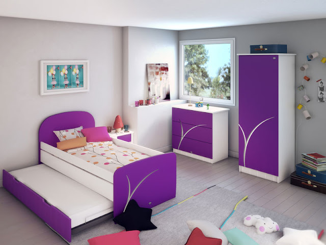 chambre fille ado violette chambre de fille. Black Bedroom Furniture Sets. Home Design Ideas