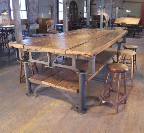 Quelle table pour votre salle manger caract rielle - Table de salle a manger style industriel ...