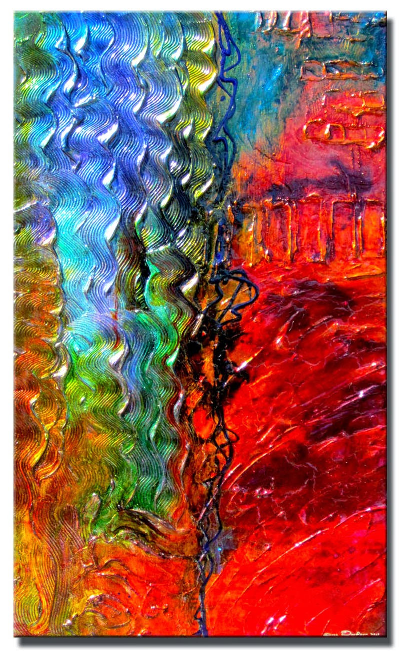 "Abstract Painting ""A Step Ahead"" by Dora Woodrum"