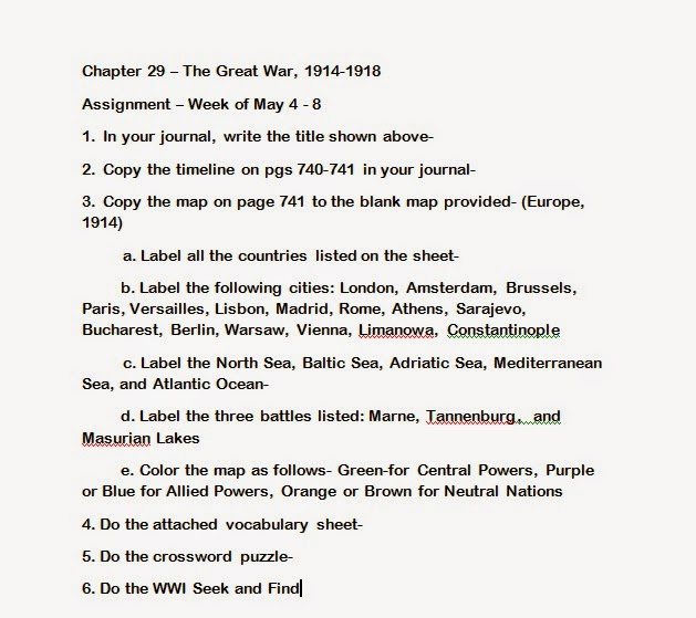 Mr es world history page world history chapter 29 the great mr es world history page world history chapter 29 the great war world war i may 8 2015 gumiabroncs Images