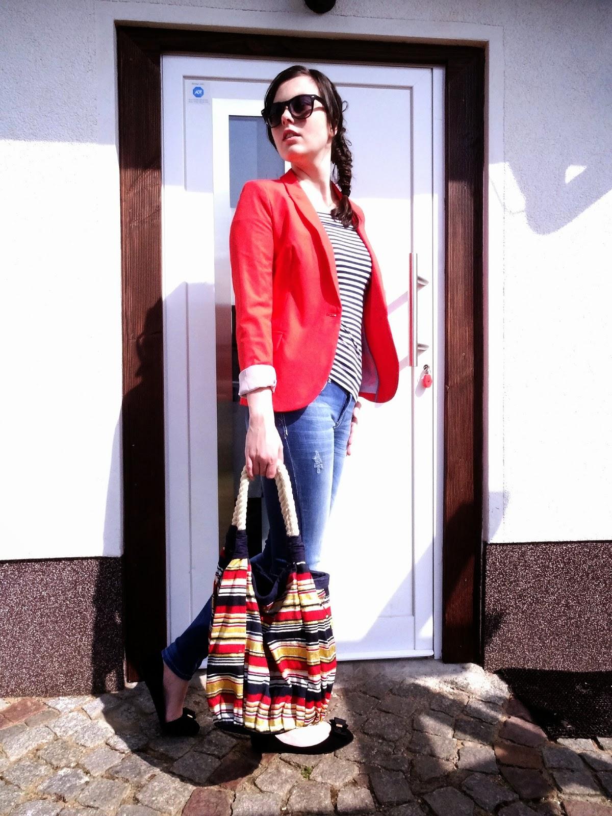 French Chic Blazer Stradivarius Fashion