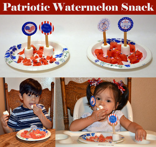 Patriotic 4th of July Snack Idea for Kids