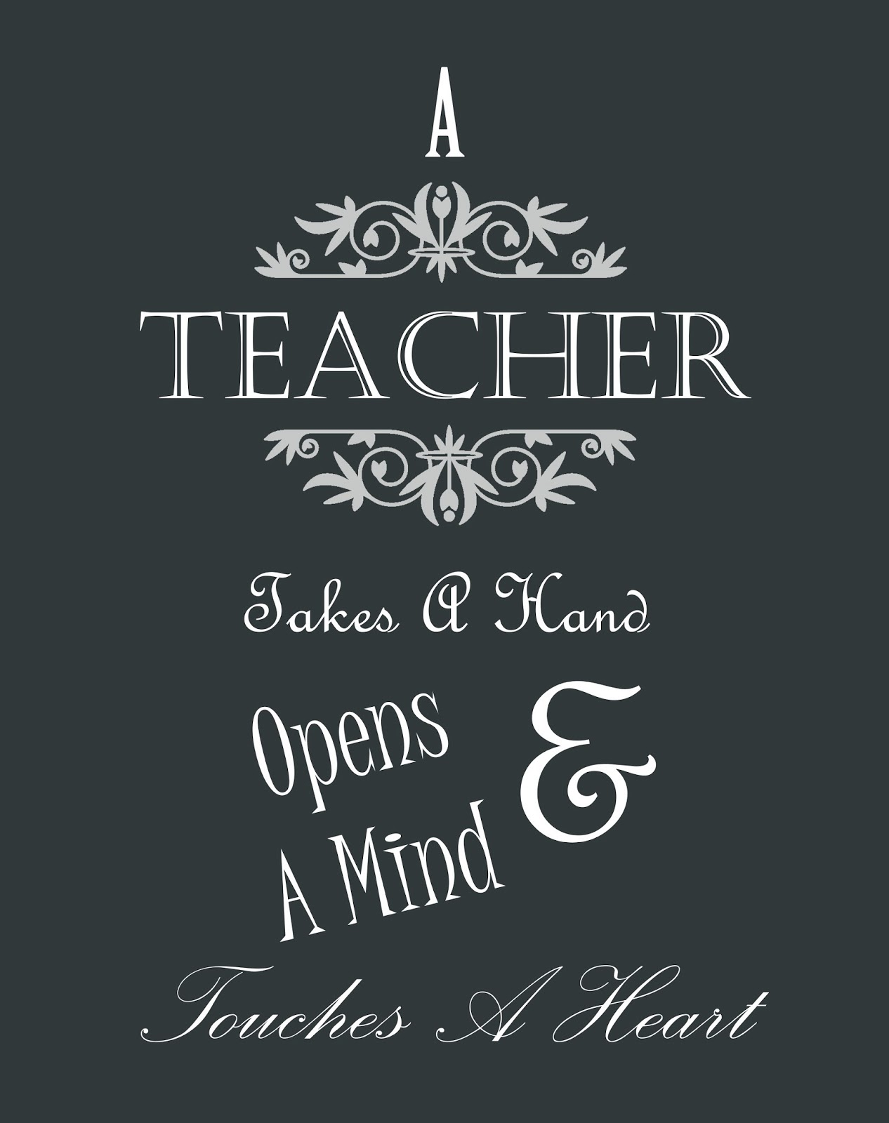 Thank You Teacher Quotes Inspiration  Teacher Appreciation Printable  Vmg206