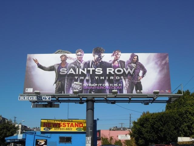 Saints Row The Third billboard