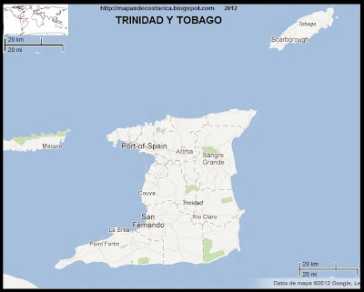 TRINIDAD Y TOBAGO, Mapa de TRINIDAD Y TOBAGO, Google Maps