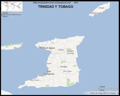 TRINIDAD Y TOBAGO, Mapa de TRINIDAD Y TOBAGO, Google Maps