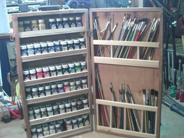 My Testors paint cabnet.