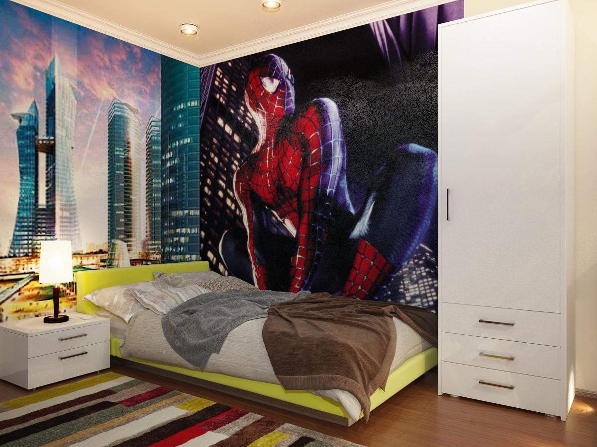 Home improvement ideas dormitorio tematico hombre arana for Dormitorio varon