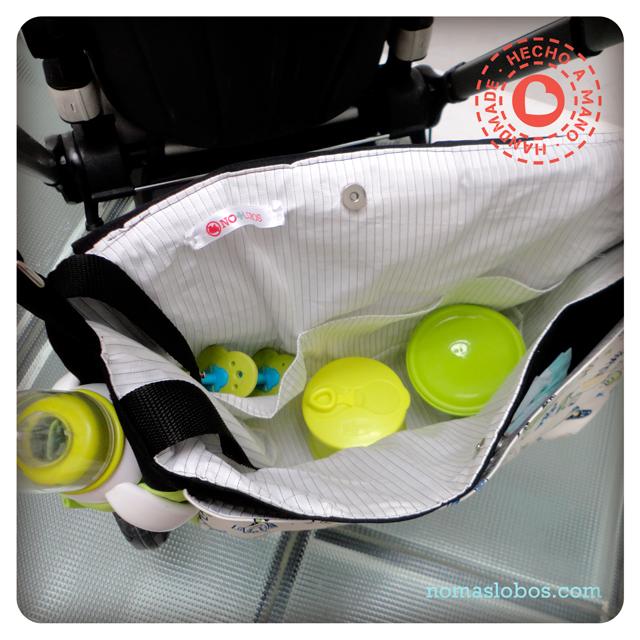 Nursery bag forbaby trolley // Bolso para carrito de bebé personalizado
