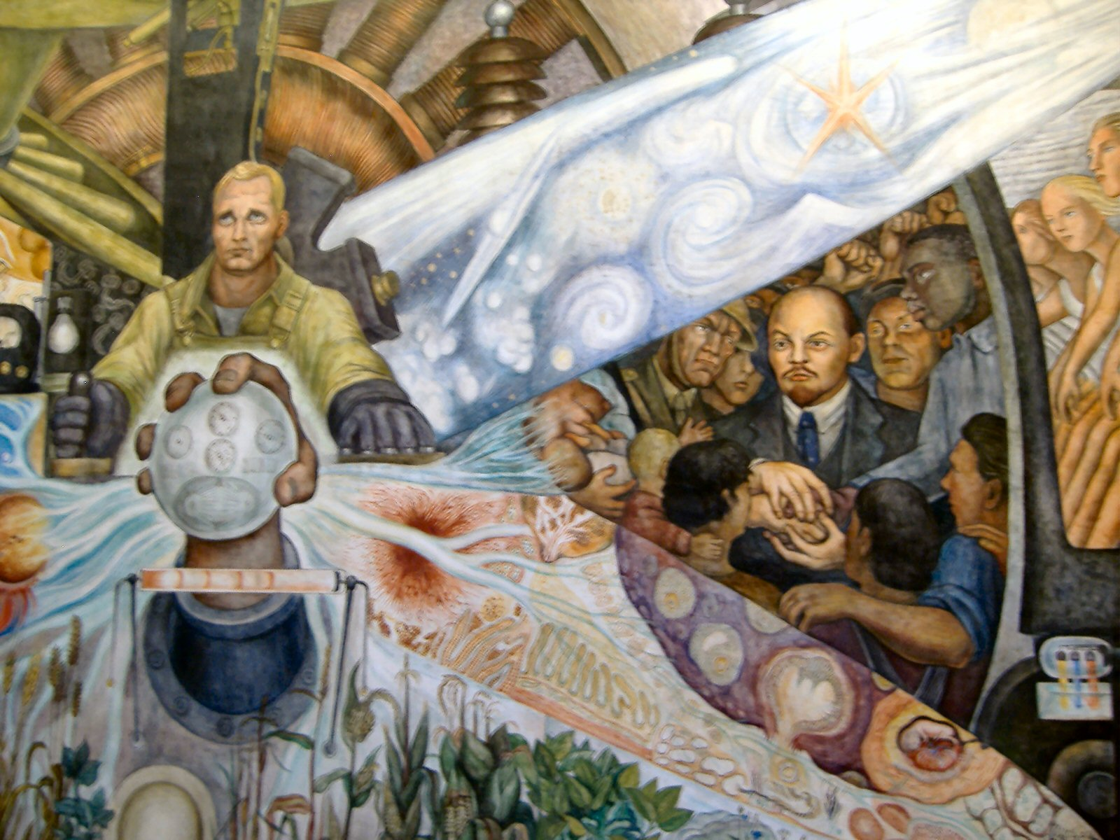 Ramona 39 s voices labor murals in maine are gone labor is for Diego rivera rockefeller mural