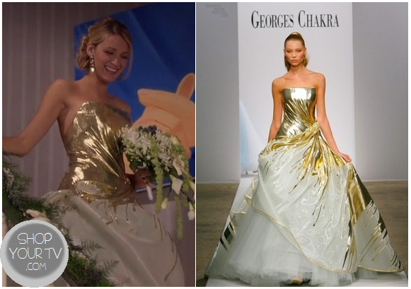 gossip girl season 6 episode 10 serena 39 s gold wedding dress