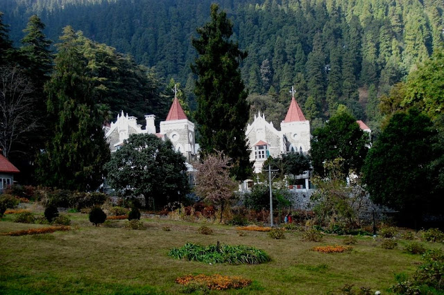 Church in Nanital city of joy for tourists and visitors