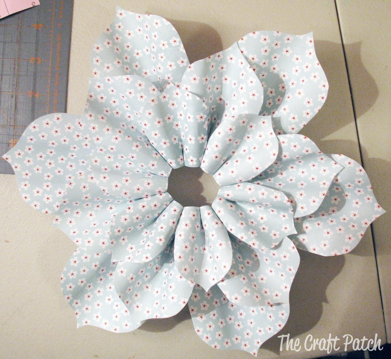 Paper Flower Tutorial Thecraftpatchblog