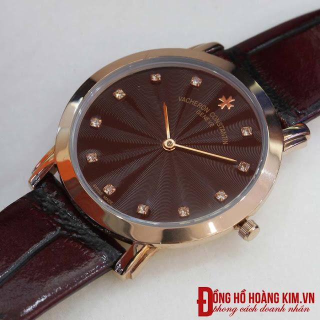Đồng hồ nữ dây da giá rẻ Vacheron Constant