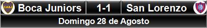 Boca Juniors 1-1 San Lorenzo