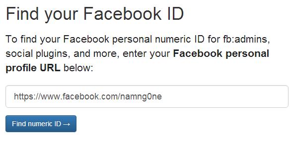 Các cách để lấy UID người dùng trên facebook