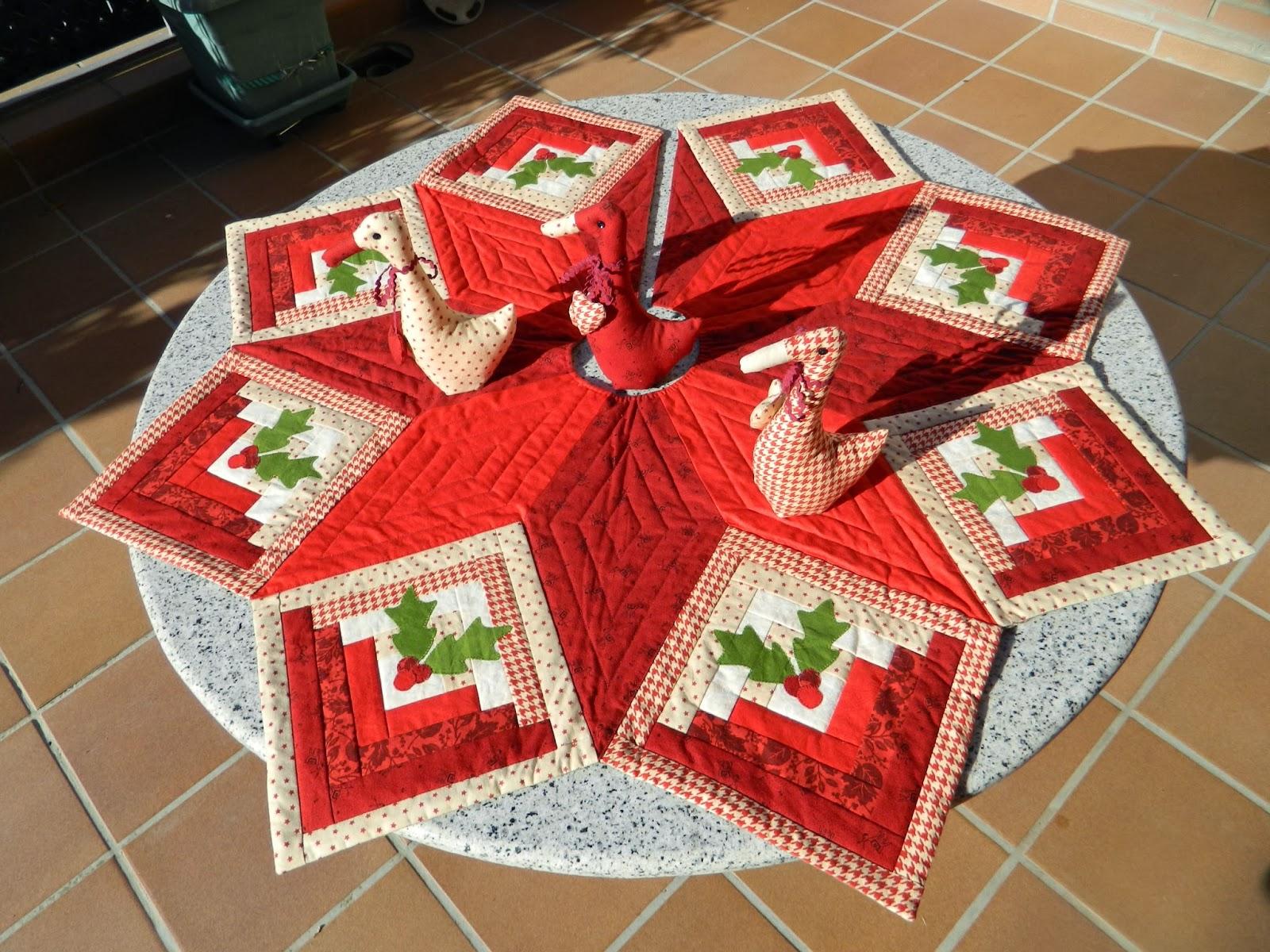 Garrigues patchwork cubre pie rbol navidad - Un santa claus especial ...
