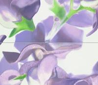 Fioletowy dekor Tubądzin