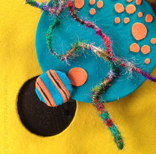 abstract felt art