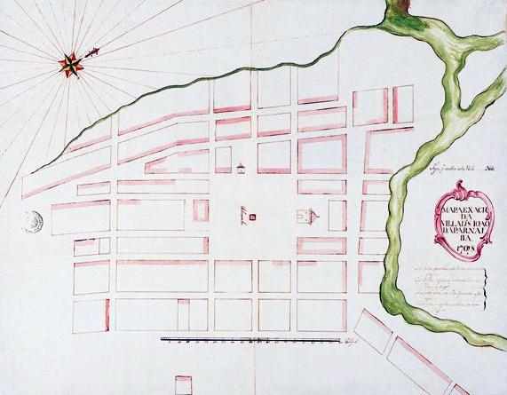 Mapa da vila de São João da Parnaíba de 1798