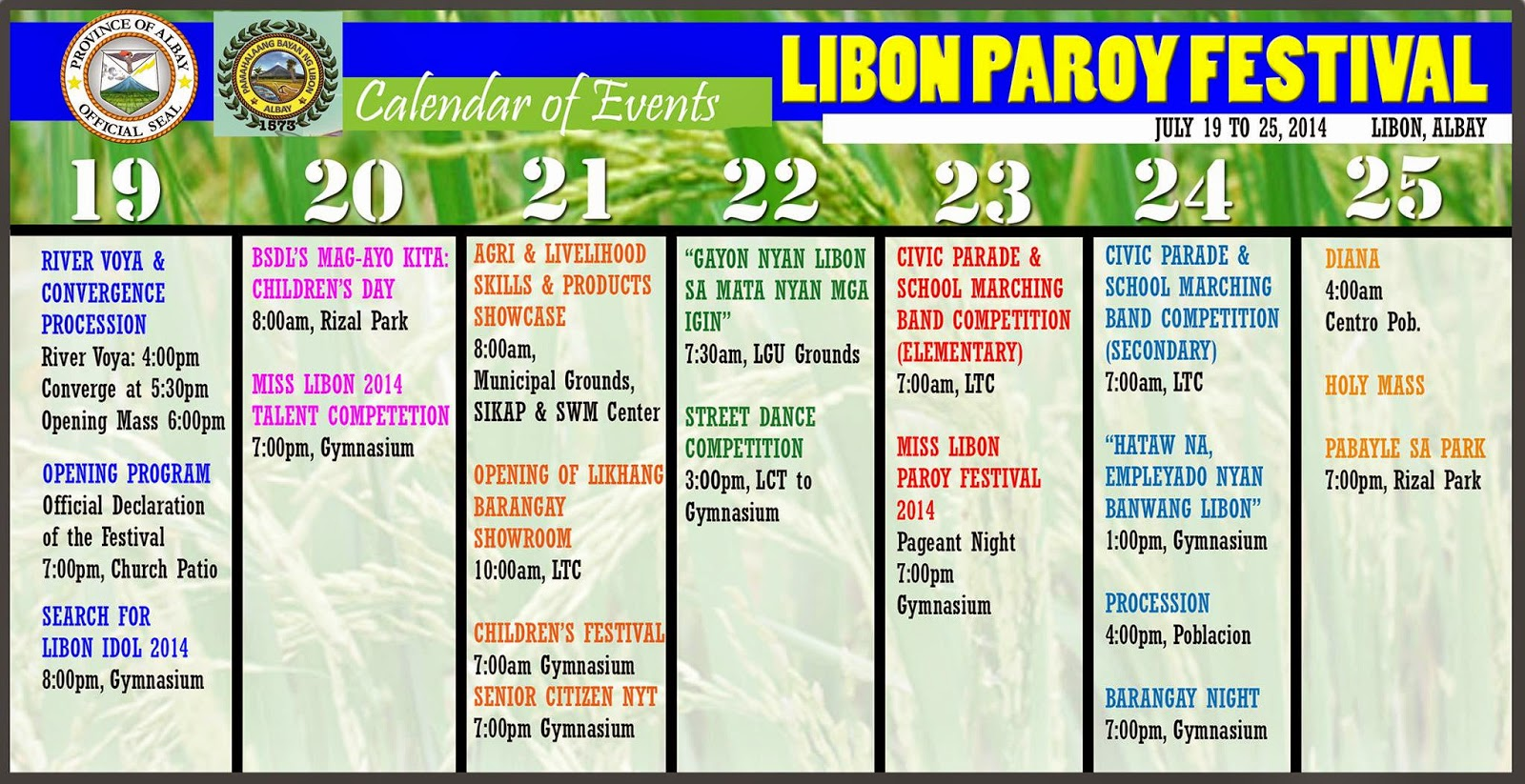 Calendar Festival : Calendar subtle technologies